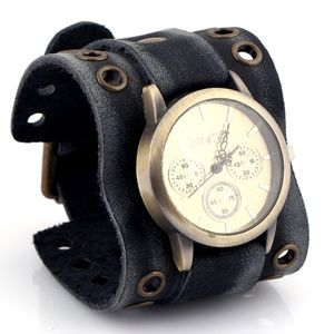 Punk Style Vintage Leather Mens Watch